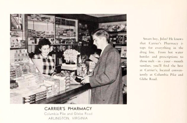 Carrier's Drug Store, Westmont Shopping Center , Columbia Pike